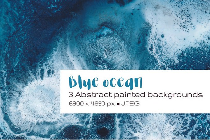 Blue Ocean Abstract Background
