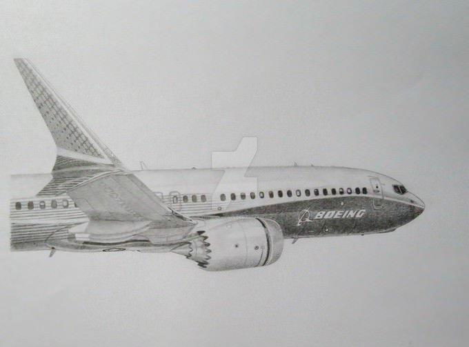 Boeing 737 MAX Drawing