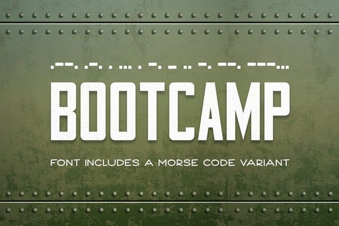 Bootcamp - Military Font + Morsecode