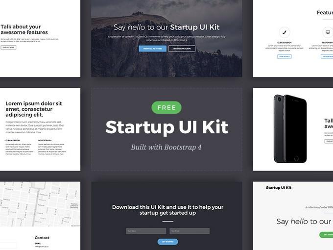 Bootstrap 4 Startup UI Kit