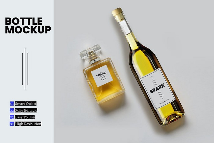 Bottle PSD Mockup