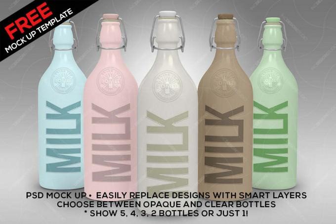 Bottle Set PSD Mock Up Template