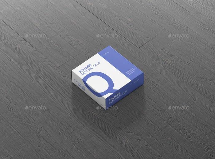 Box Mockup - Flat Square