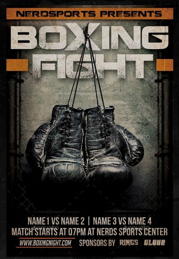Boxing Fight Sports Flyer