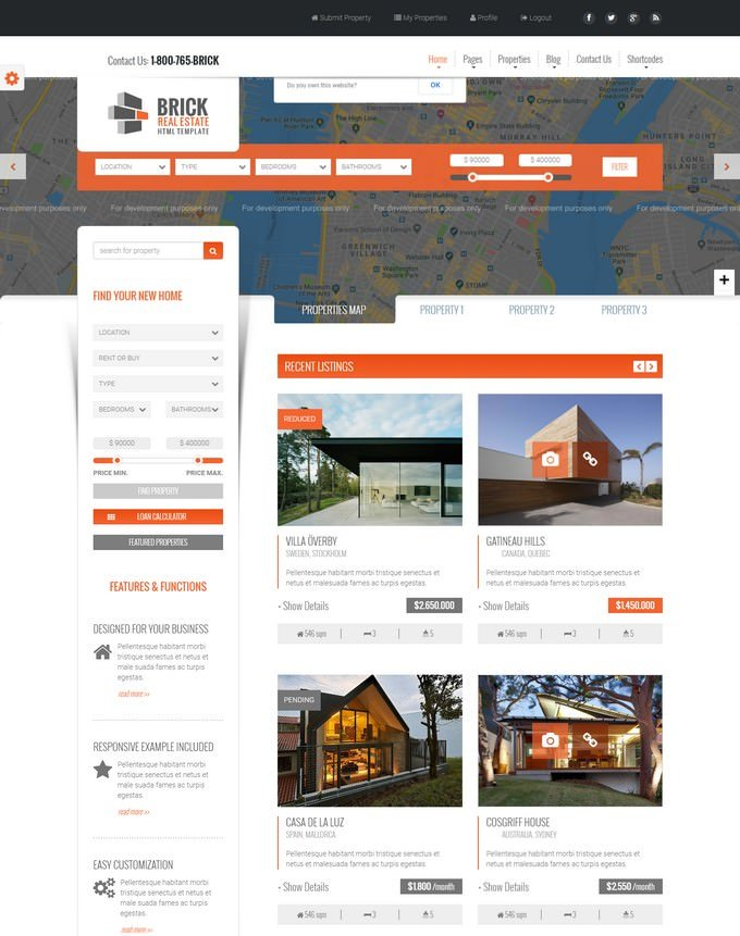 Brick - Responsive Mortgage Site Template