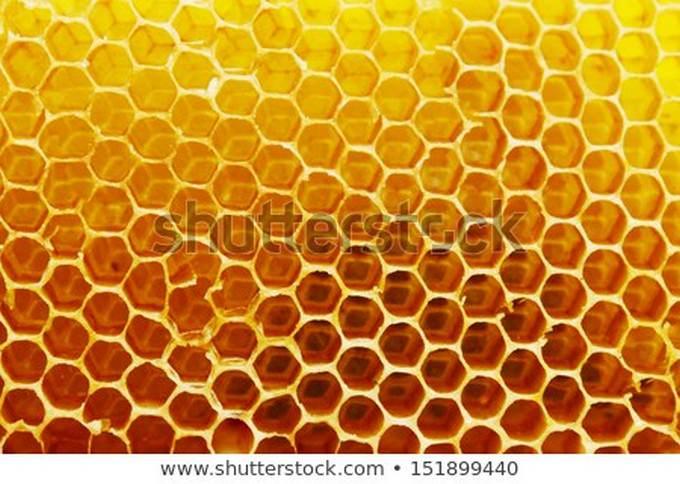 Bright Yellow Honeycomb