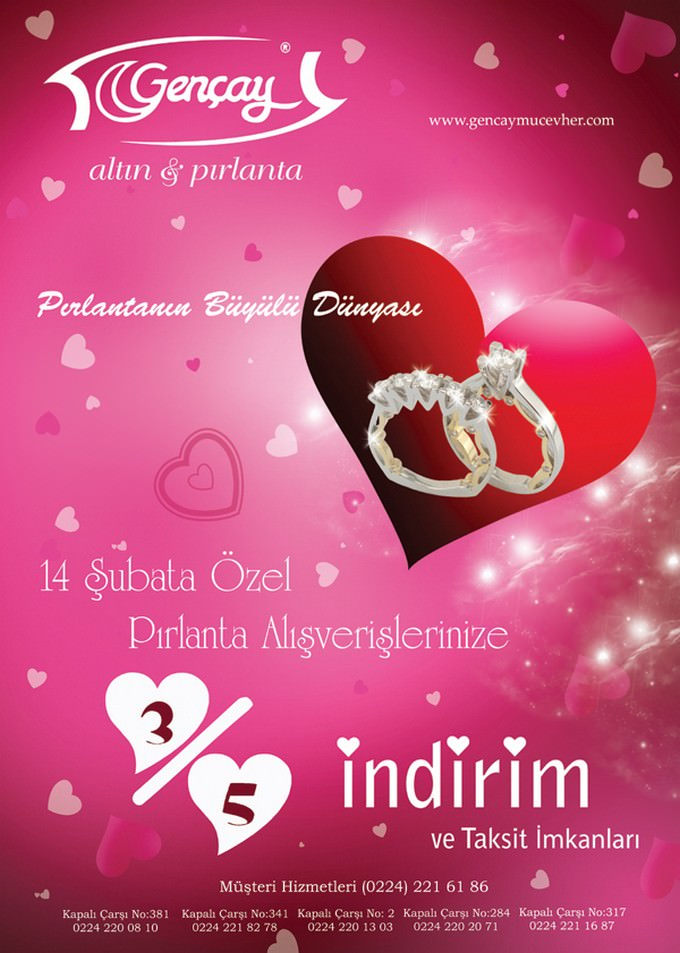 Brochure Cover for Valentine's Day