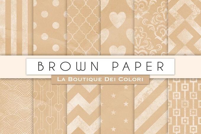 Brown Chalk Digital Paper