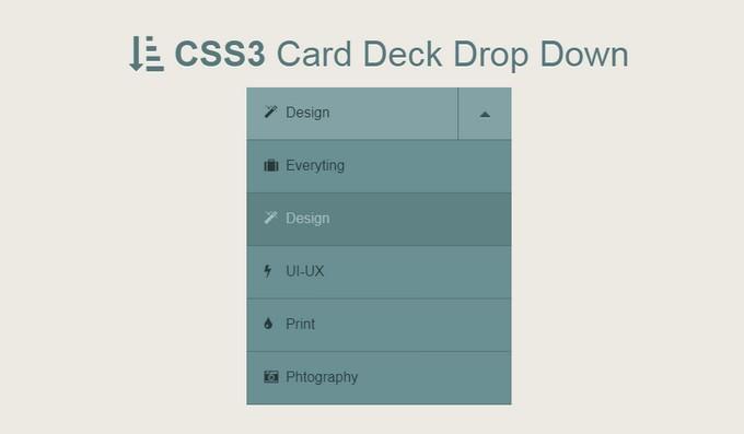 CSS3 Card Deck Drop Down