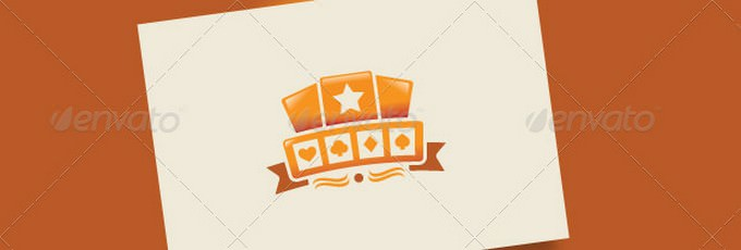 Casino Orange Logo Template