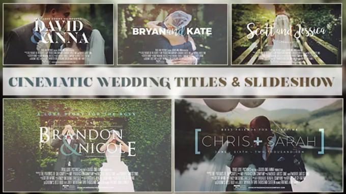 Cinematic Wedding Titles
