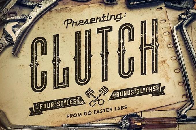 Clutch Font Family + BONUS Icons