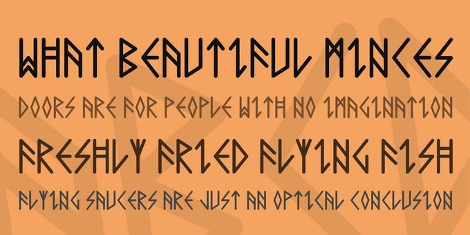 Comic Runes Viking Style Font