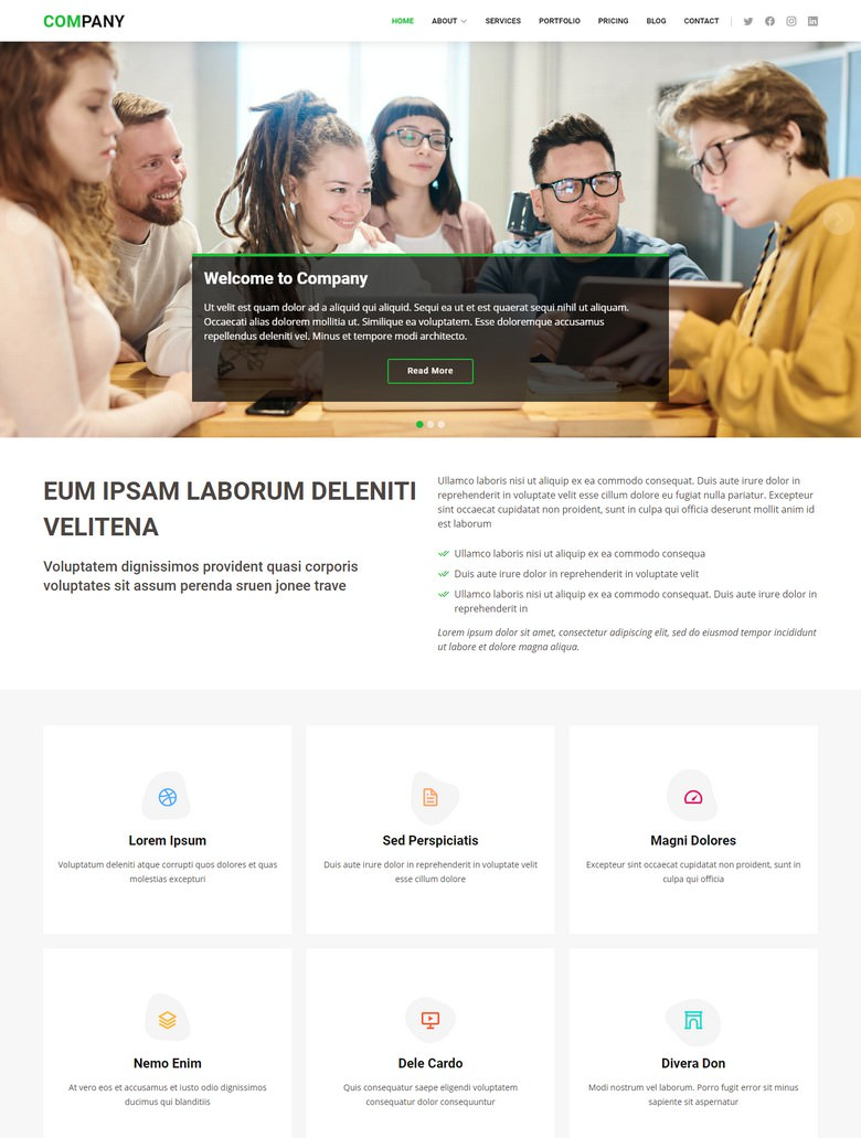 Company - Free Business Bootstrap Template
