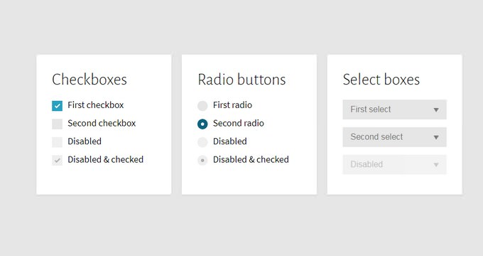 Custom Checkboxes, Radio Buttons And Select Boxes