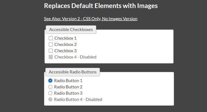Custom Checkboxes and Radio Buttons - Accessibility