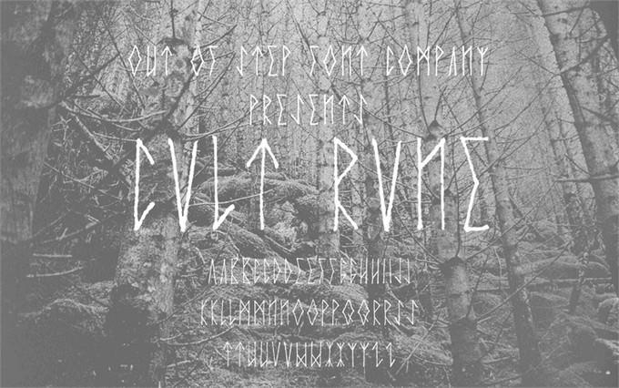 Cvlt Rvne Viking Style Font