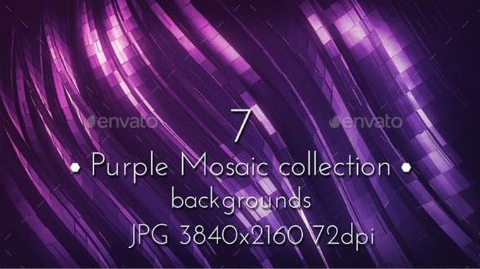 Dark Pink Purple Mosaic Background