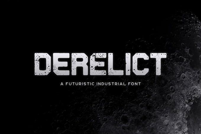 Derelict Techno Typeface