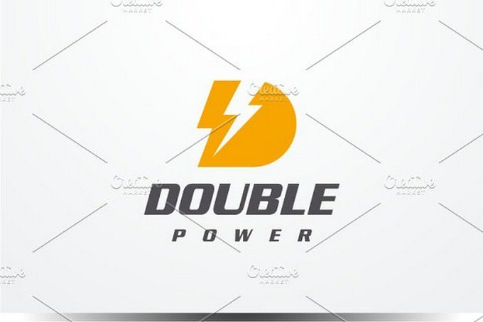 Double Power - Letter D Logo
