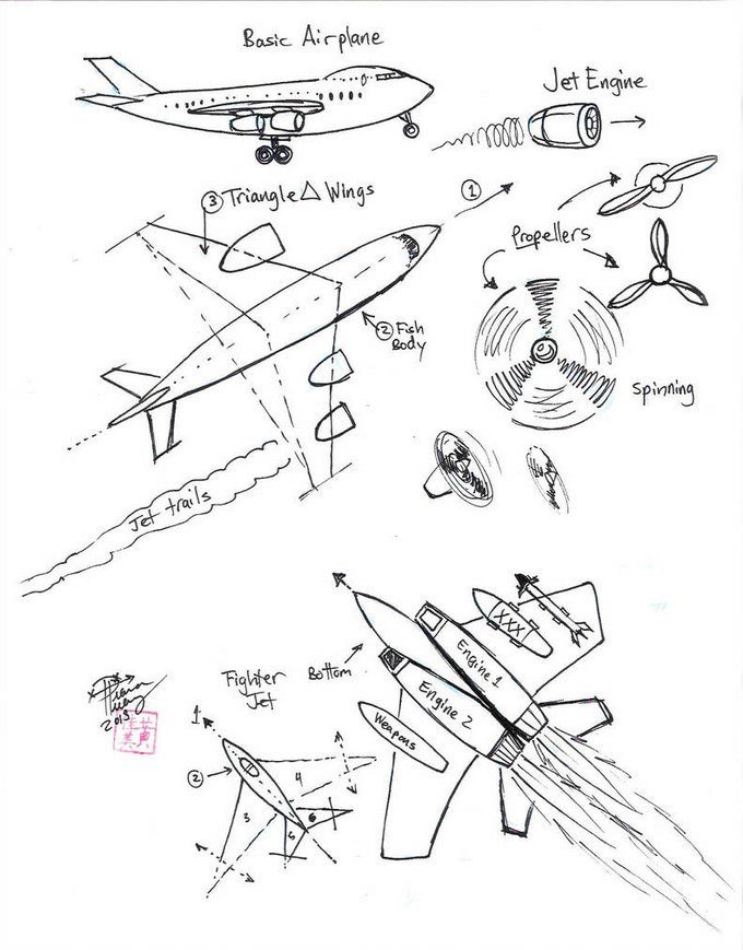 Draw Airplane and Jet