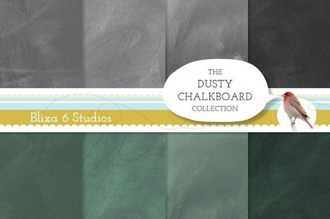 Dusty Chalkboard Background Textures