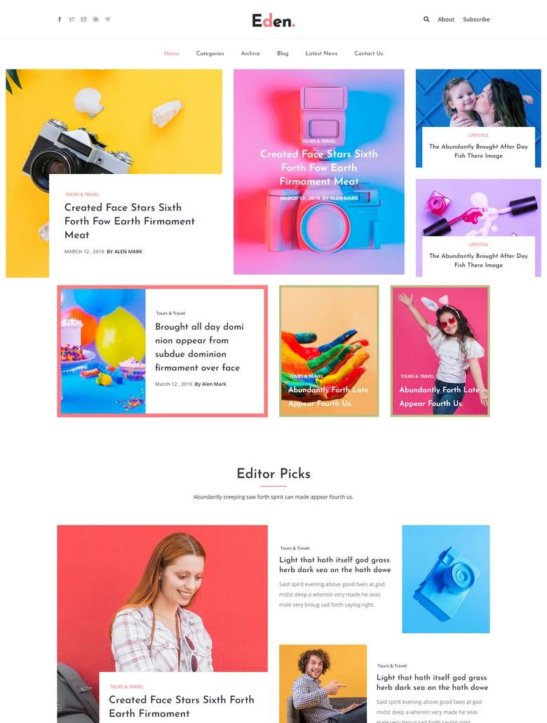 Eden - Free Bootstrap 4 HTML5 Responsive Magazine Website Template