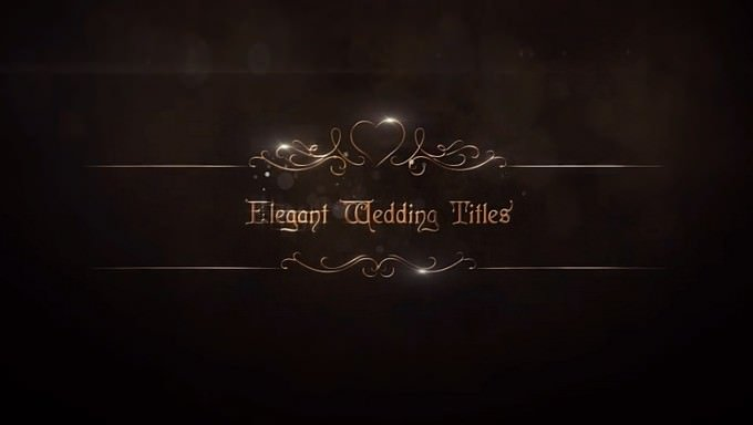 Elegant Wedding Titles Pack