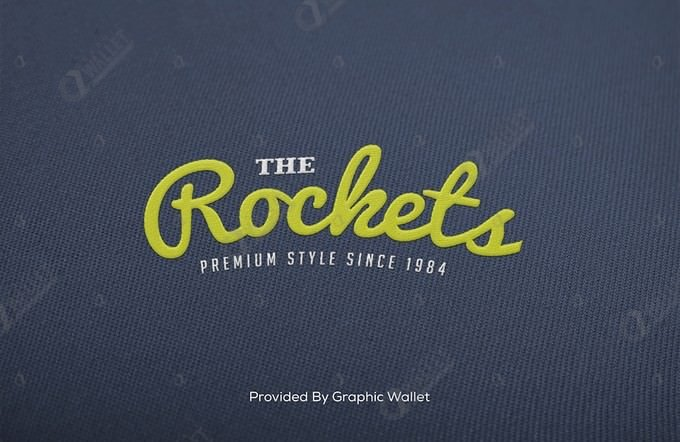 Embroidered Logo Mockup – Rochets