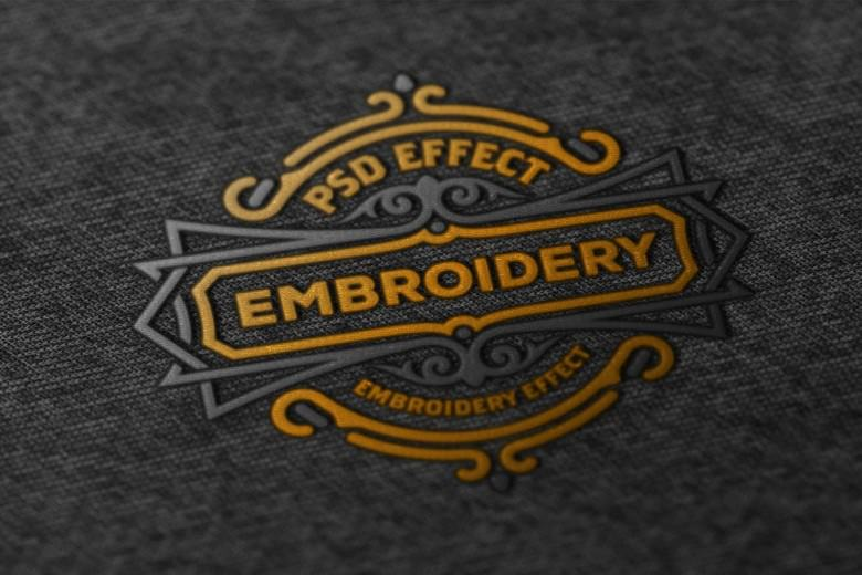Amazing Embroidery Effect PSD Mockup-3000×2085 px