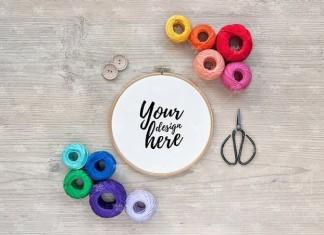 Embroidery Hoop Mockup