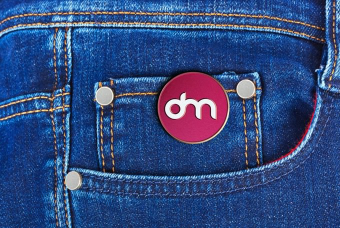 Jeans Pin Mock-up PSD