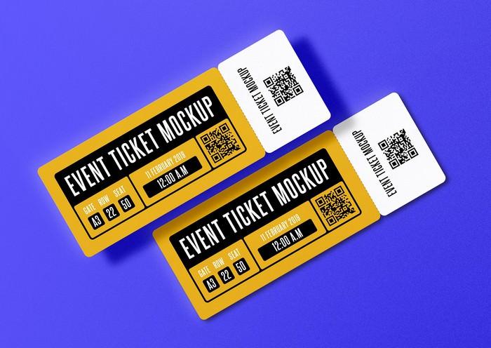 Event Ticket PSD Mockup Free