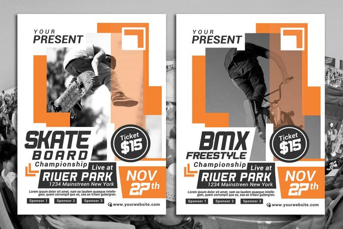 Extreme Sport Competition Flyer