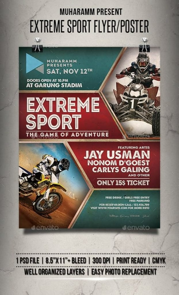 Extreme Sport Flyer Poster