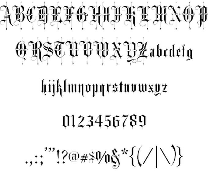 Fancy Text Font