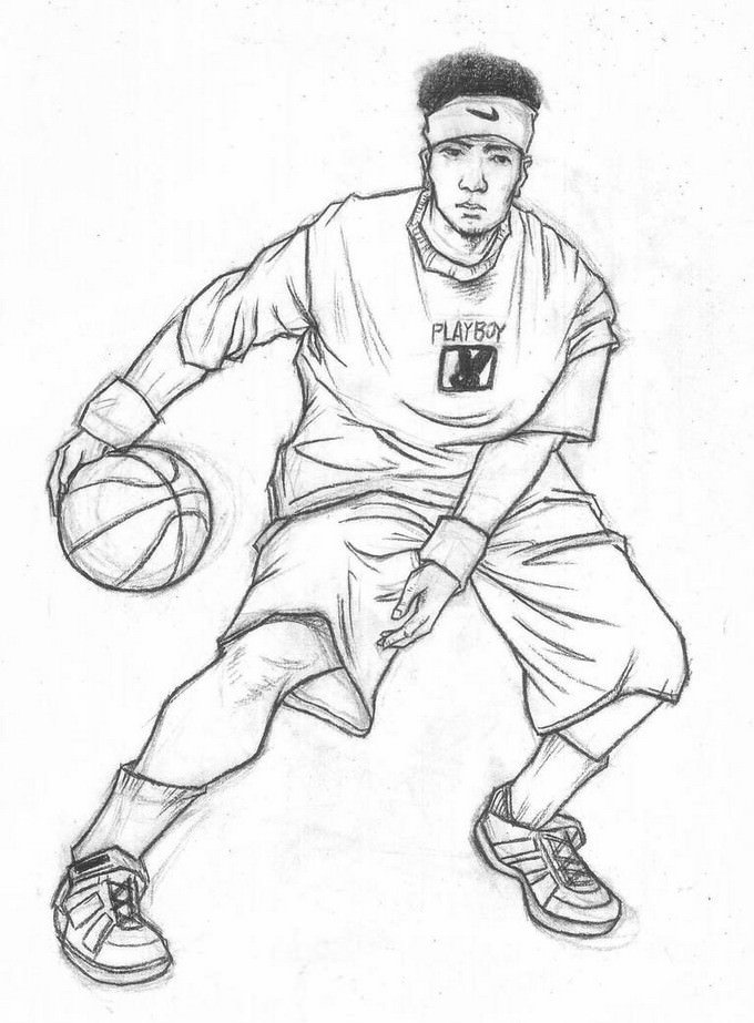Fast Basketball Drawing