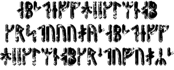 Fenrir Runic Viking Style Font