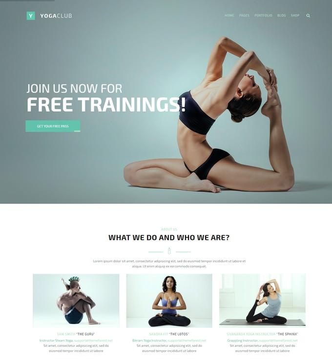 FightClub - Premium Yoga Html Template