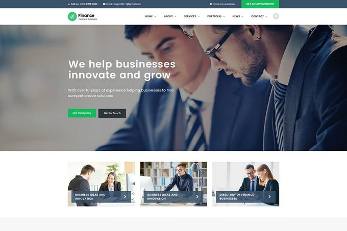Finance - Accounting HTML Template
