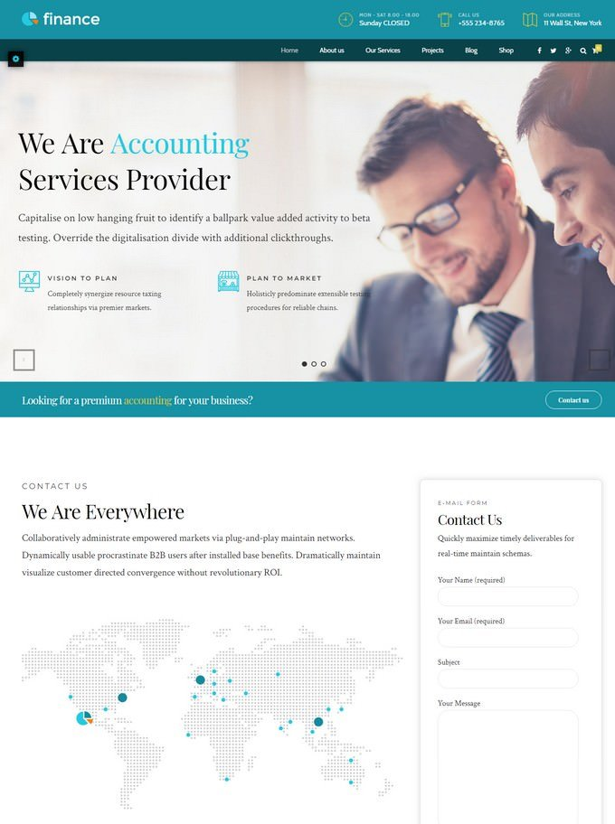 Finance - Accounting Website Template