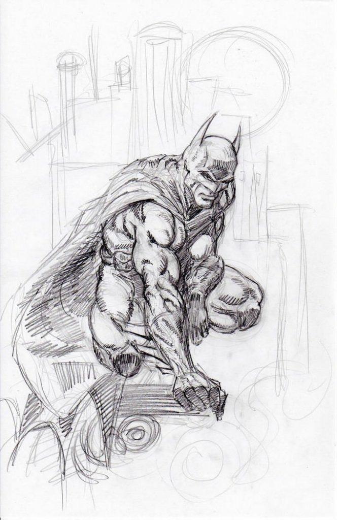 Finch Batman Sketch Drawing Download