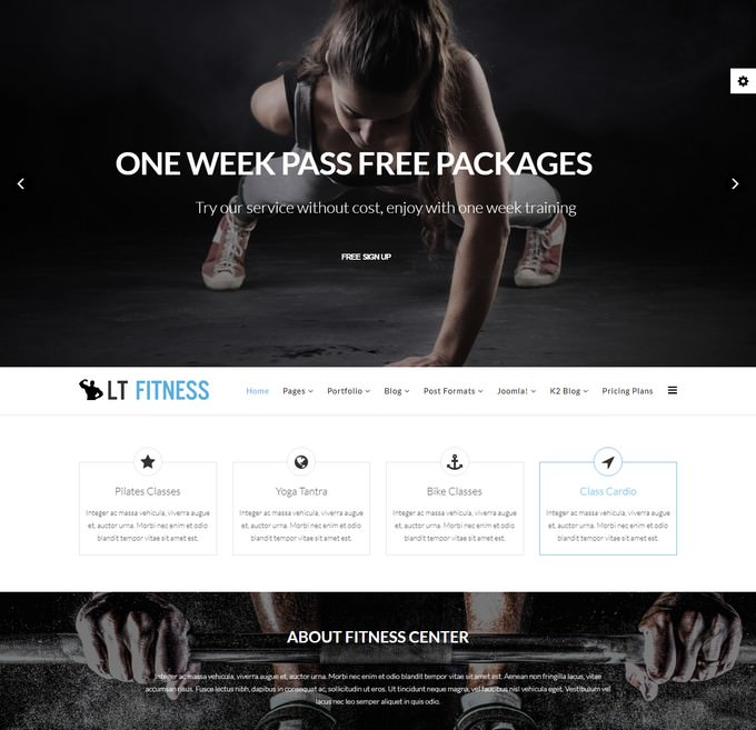 Fitness & Yoga Joomla template