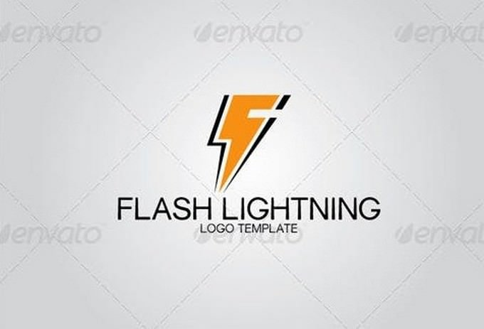 Flash Lightning Logo Template