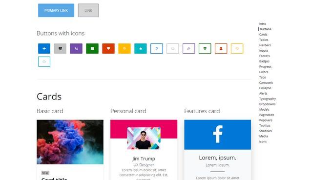 Fluent Design UI Kit for Bootstrap 4