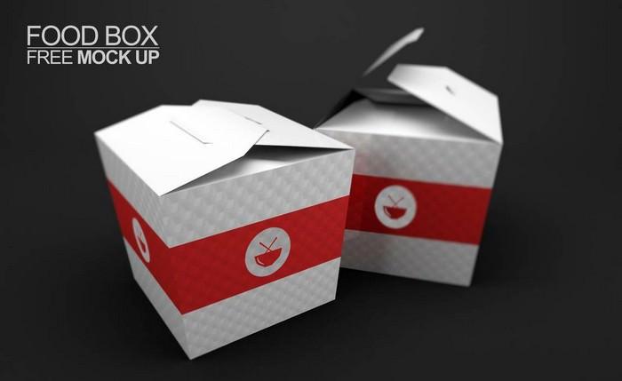 Food BOX Mock Up Free
