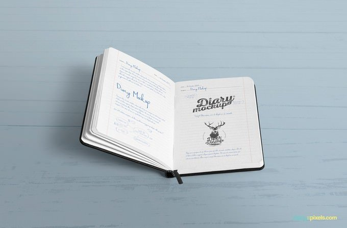 15+ Best Notebook / Diary Mockups Templates 2019 - Templatefor