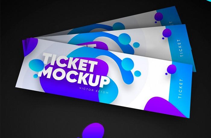Ticket Mockup Free