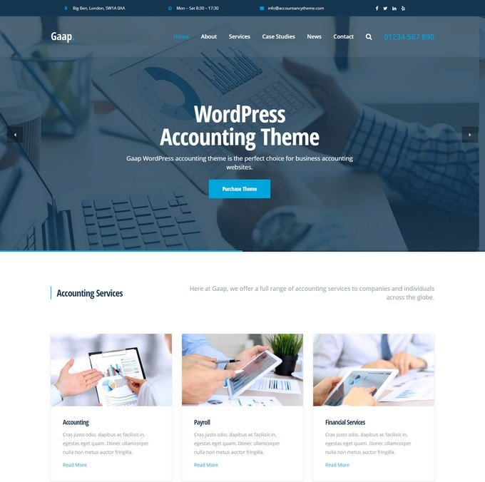 Gaap - WordPress Accounting Theme