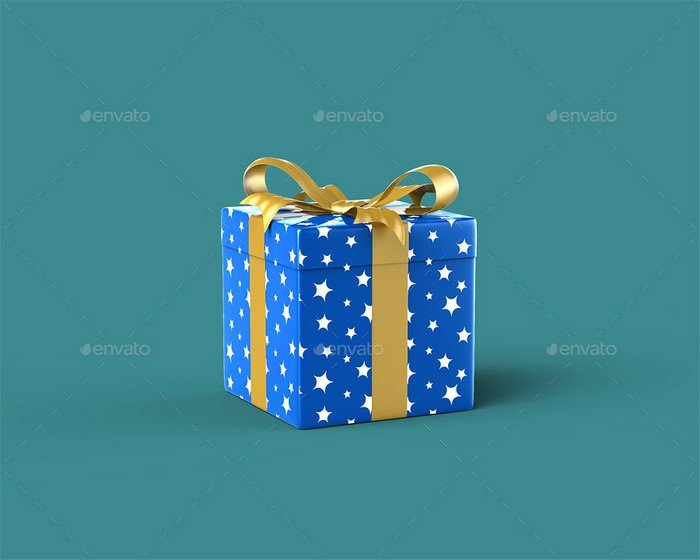 Gift Box Mock-Up